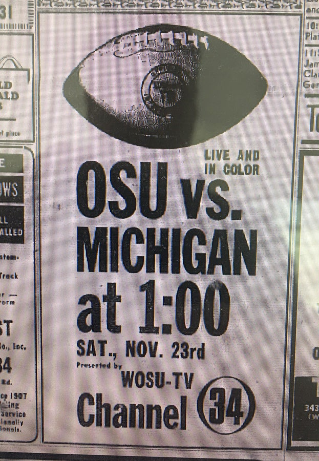 The history of Ohio State-Michigan on television