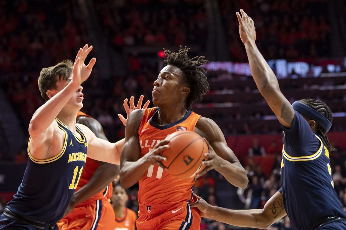 Michigan bullied in the paint in loss at Illinois