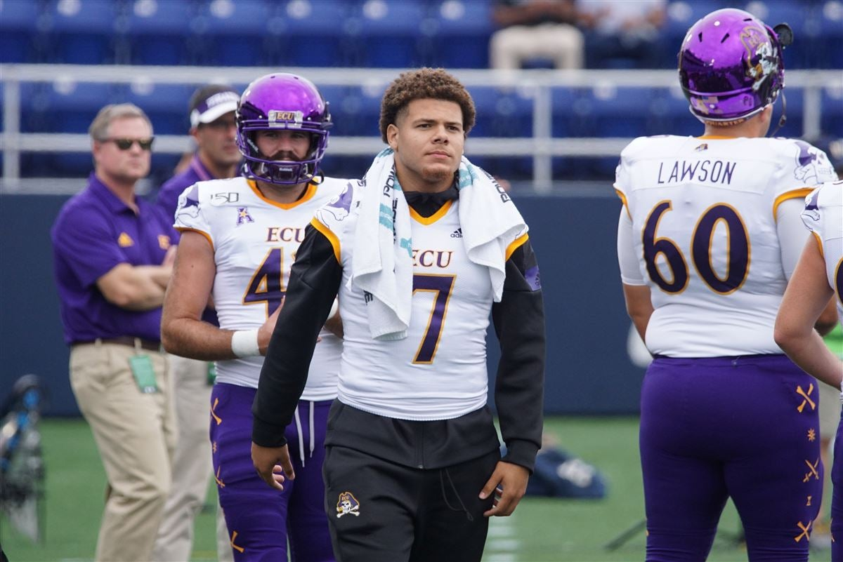ECU starting RB Darius Pinnix out against Navy with injury
