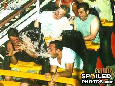 Funny work discussion: Seeing people puke at amusement parks