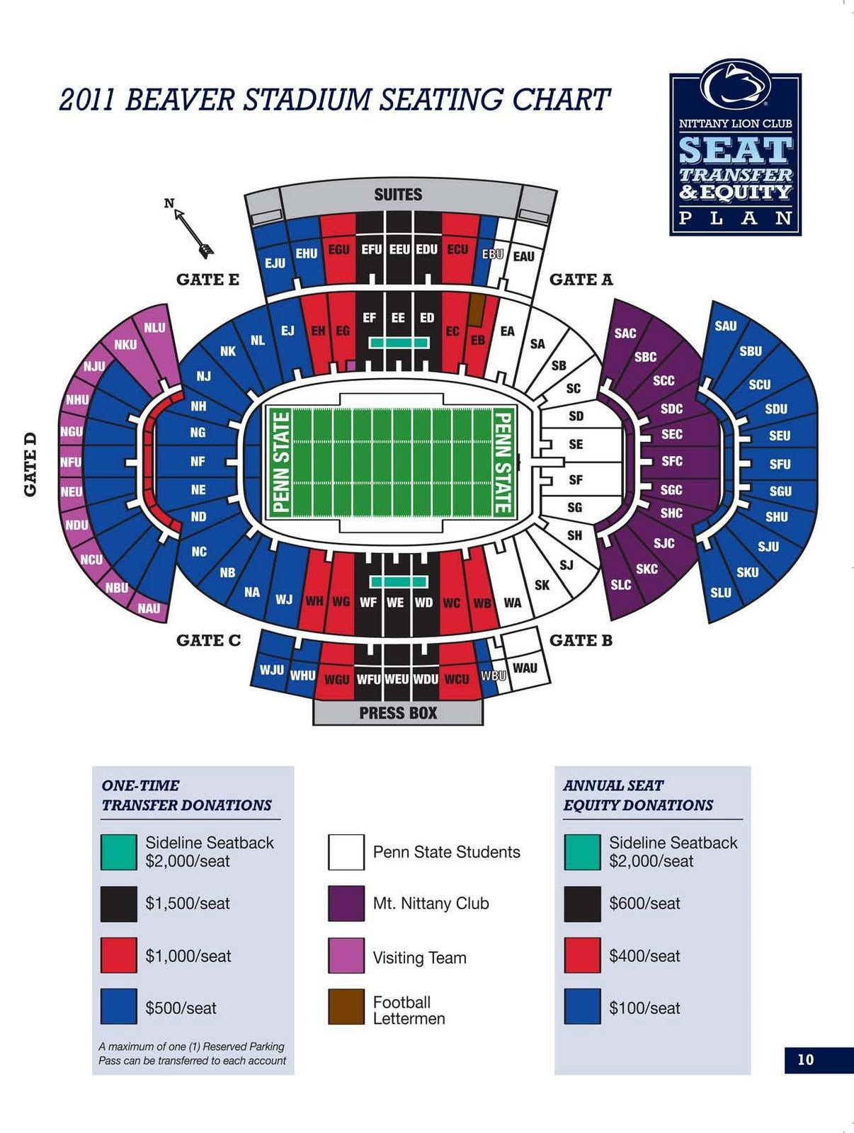 Visitor sections at beaver stadium