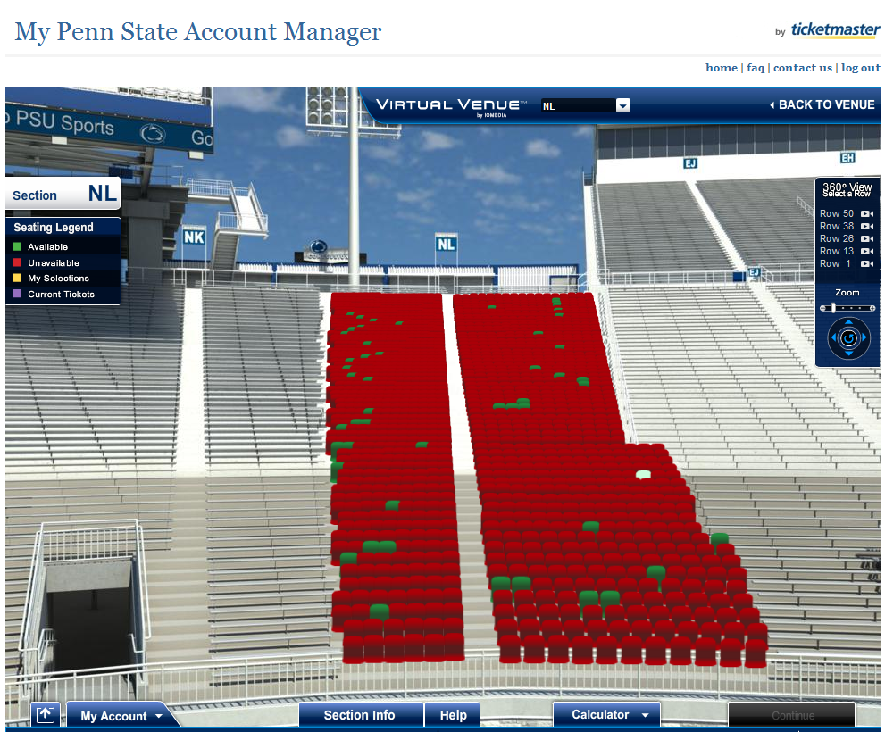 Beaver Stadium Seating Chart Rows Beaver Stadium Seat