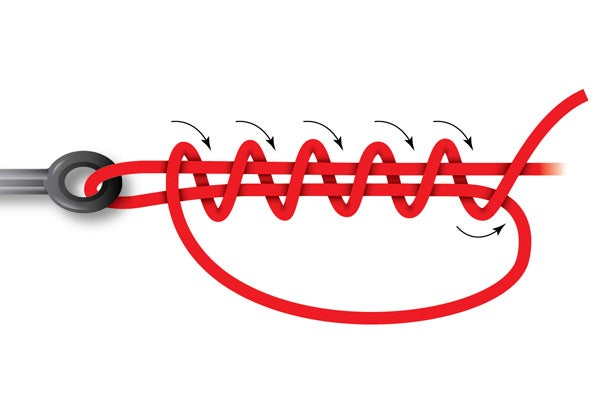 How to tie the uni slip knot for Bass fishing knots