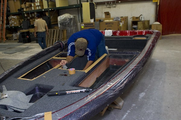 Legend boats factory tour for Cool fishing boat accessories