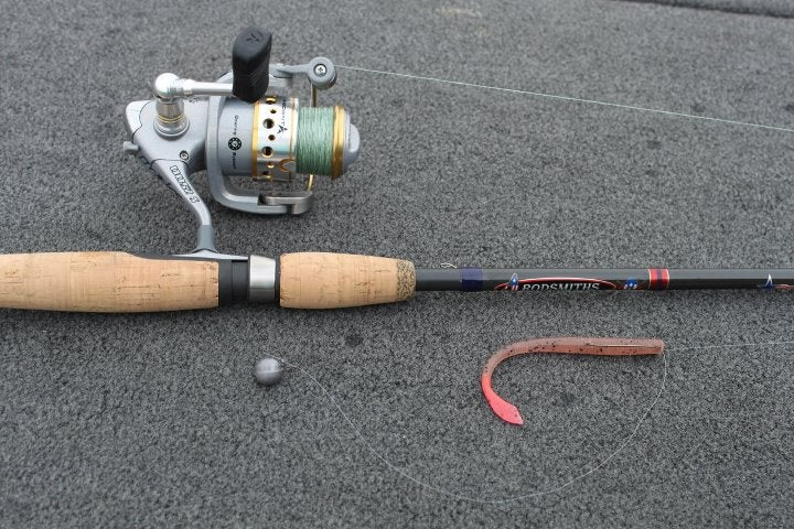 Deep cover drop shot tactics for Shooting fishing rod