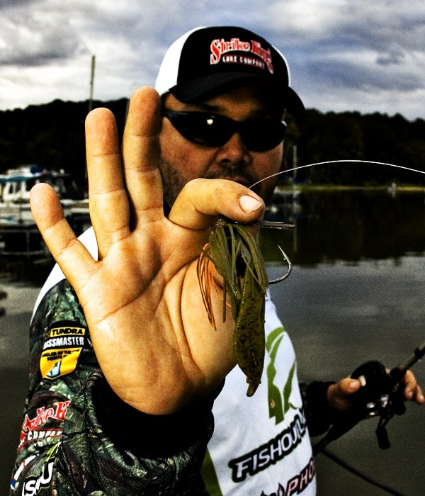 Greg Hackney With His Trimmed And Ready Hack Attack Jig